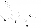 Ethyl 4-cyano-5-(methylthio)thiophene-2-carboxylate, 97%